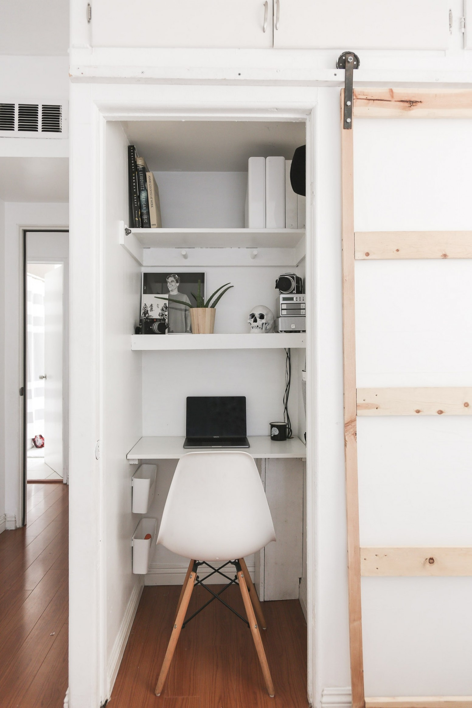 A Closet Office Means ANYONE Can Work from Home  Architectural Digest - Closet Office Ideas