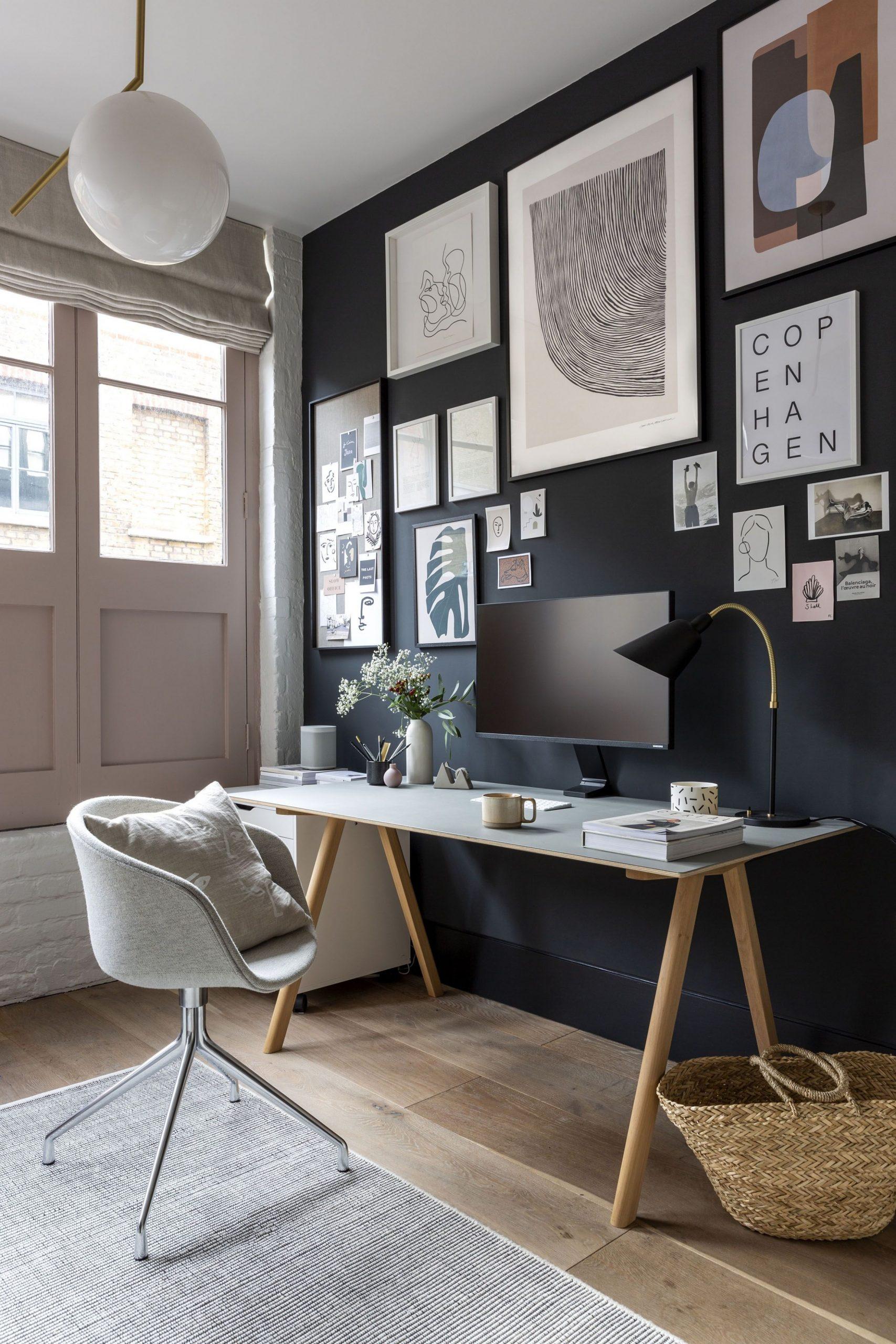 A cool, minimalist home office in a Shoreditch loft apartment  - Home Office Ideas Loft