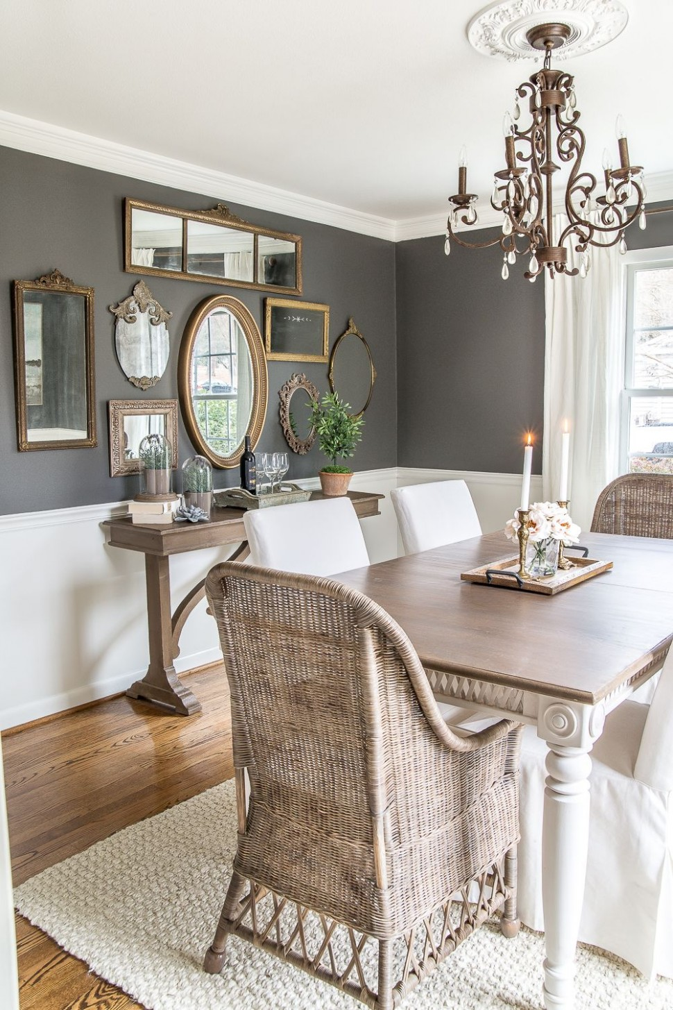 A couple of tricks for hanging the perfect mirror gallery wall  - Dining Room Ideas Gallery