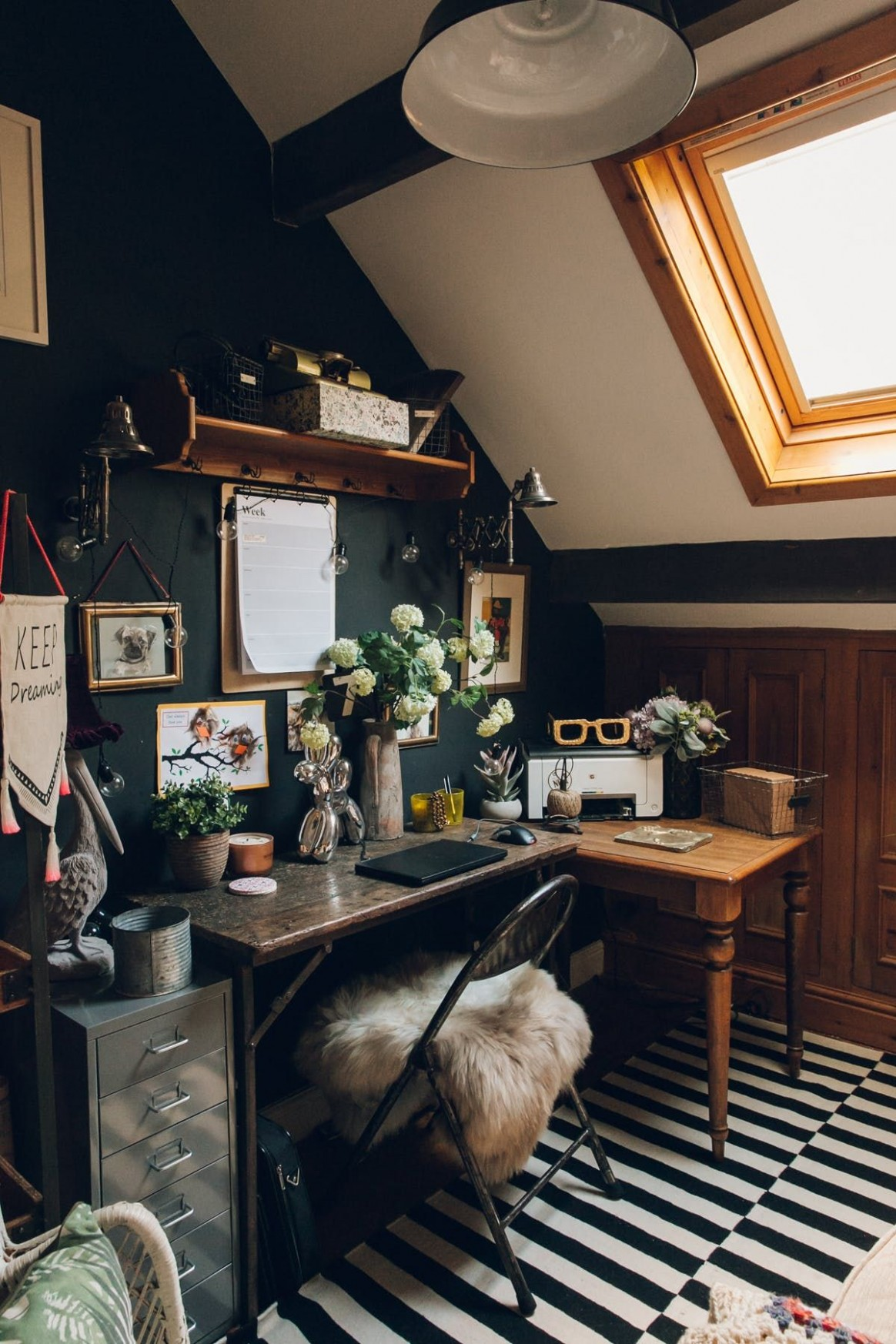 A Dark, Moody, Vintage-Filled Victorian in the UK  Interior, Home  - Victorian Home Office Ideas