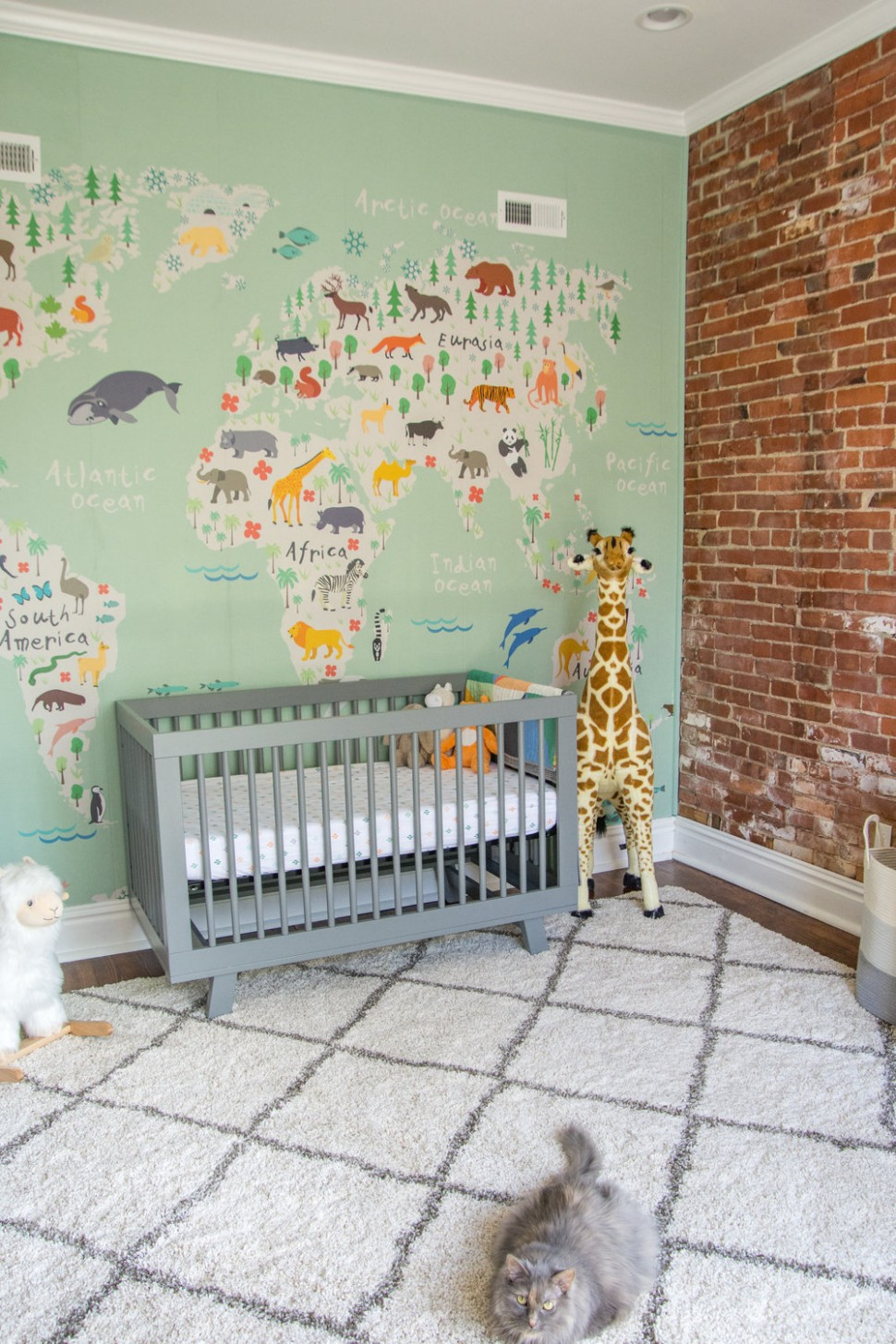 A Gender-Neutral Travel Inspired Nursery  Modern Animal Safari  - Baby Room Pacific Place