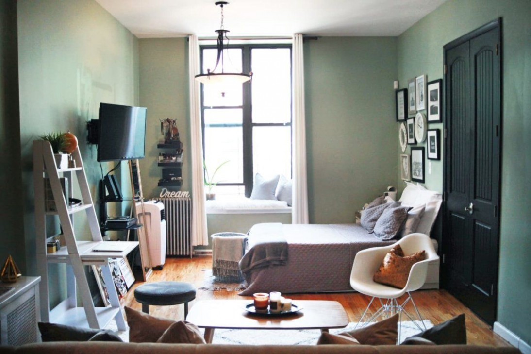 A Lovely Brooklyn Studio Is a Lesson in Superb Small Space  - Apartment Design Help