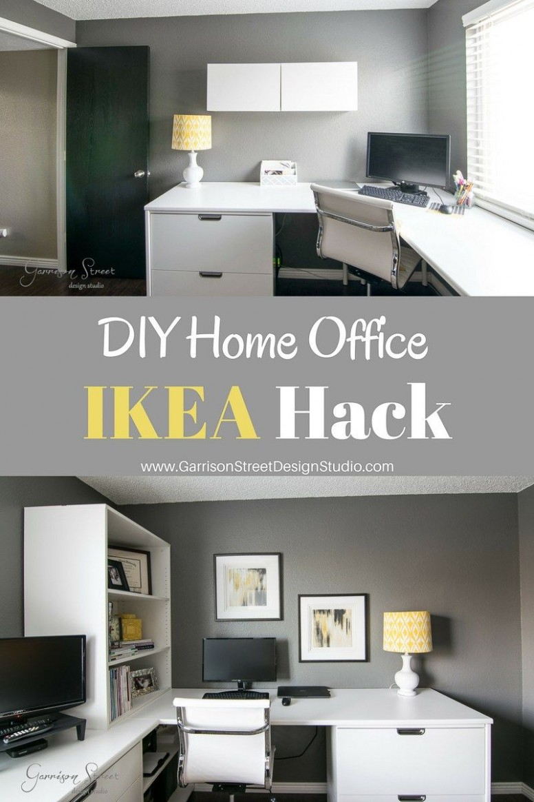 A Real Home Office - Garrison Street Design Studio  Ikea home  - Home Office Redo Ideas