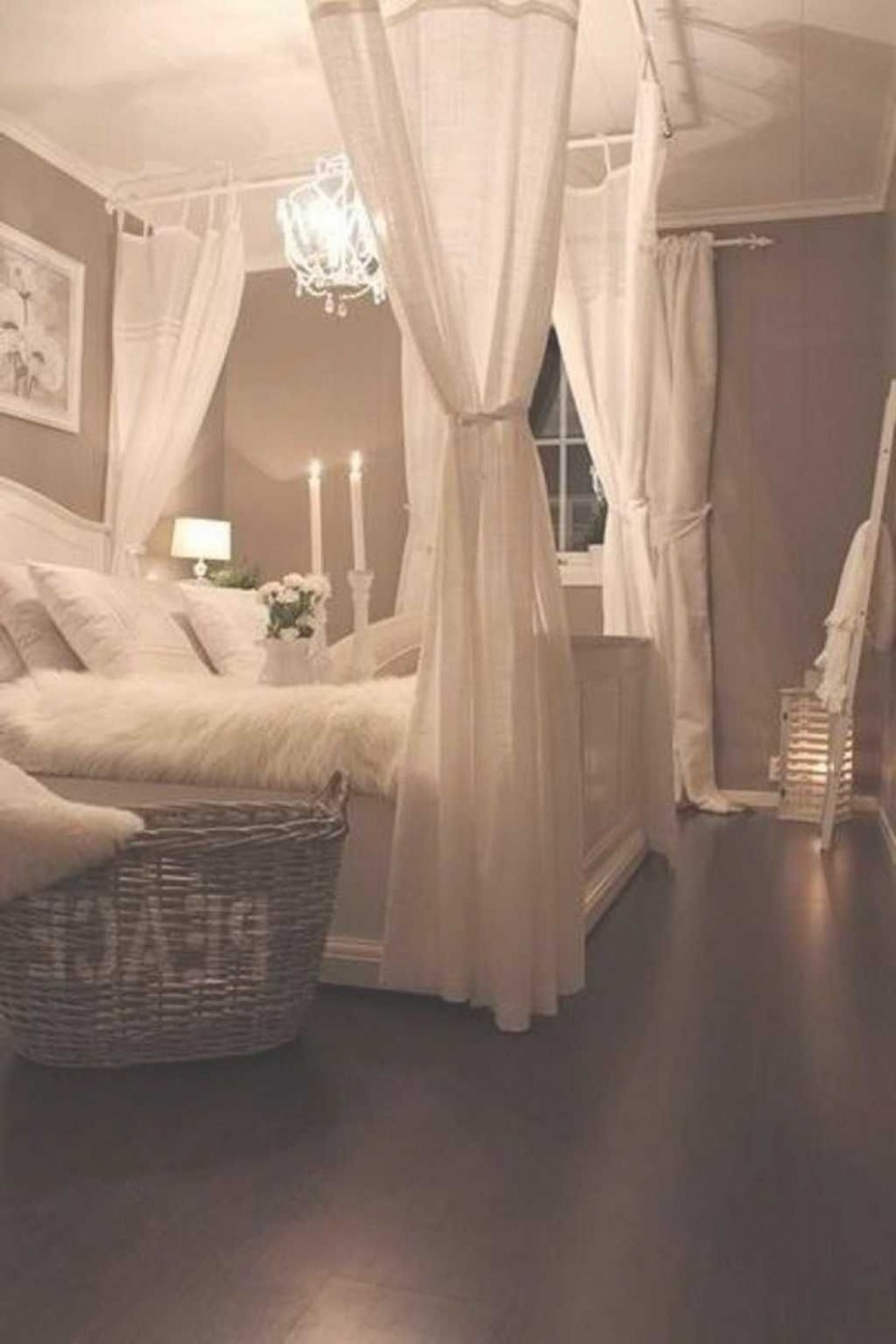 A romantic bedroom is soft: soft color, soft fabric, soft lines  - Bedroom Ideas Romantic