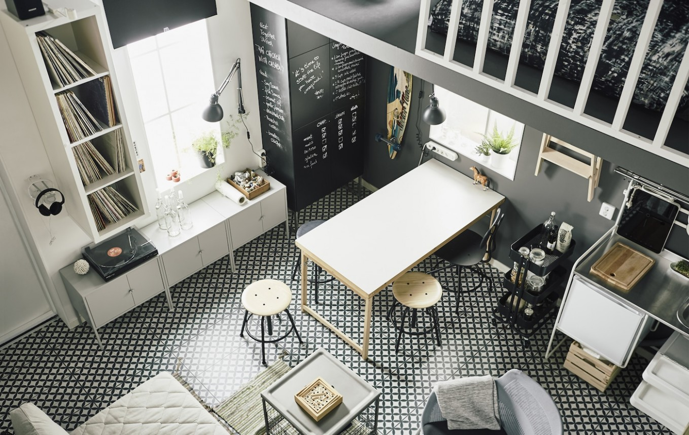 A small and smart loft apartment - IKEA Ireland - Small Apartment Decorating Ideas Ikea