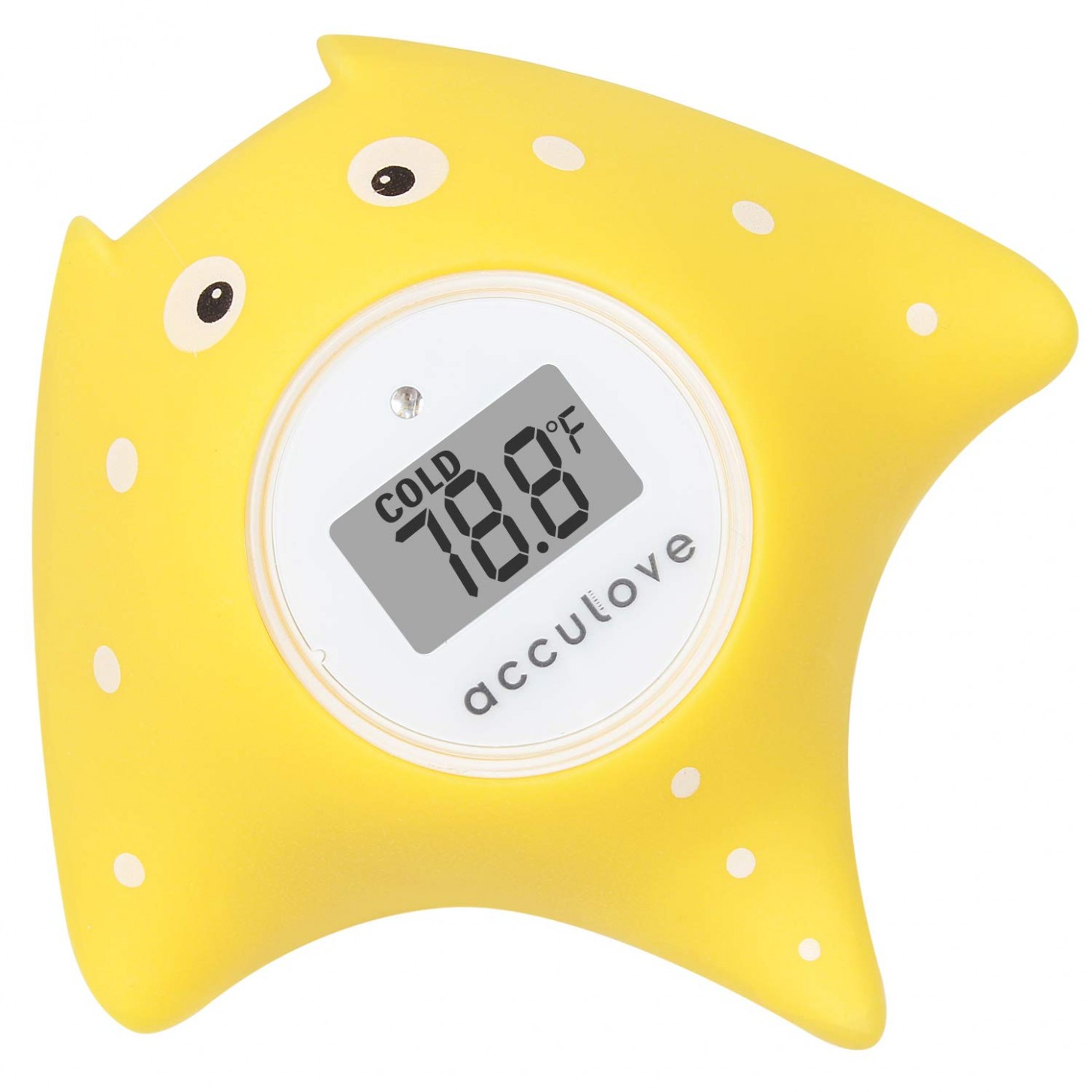 Acculove Baby Bath and Room Thermometer, Floating Bath Thermometer for  Bathtub and Swimming Pool, Yellow Fish Cartoon Outlook, Safe Toy for  Babies,  - Baby Room Thermometer