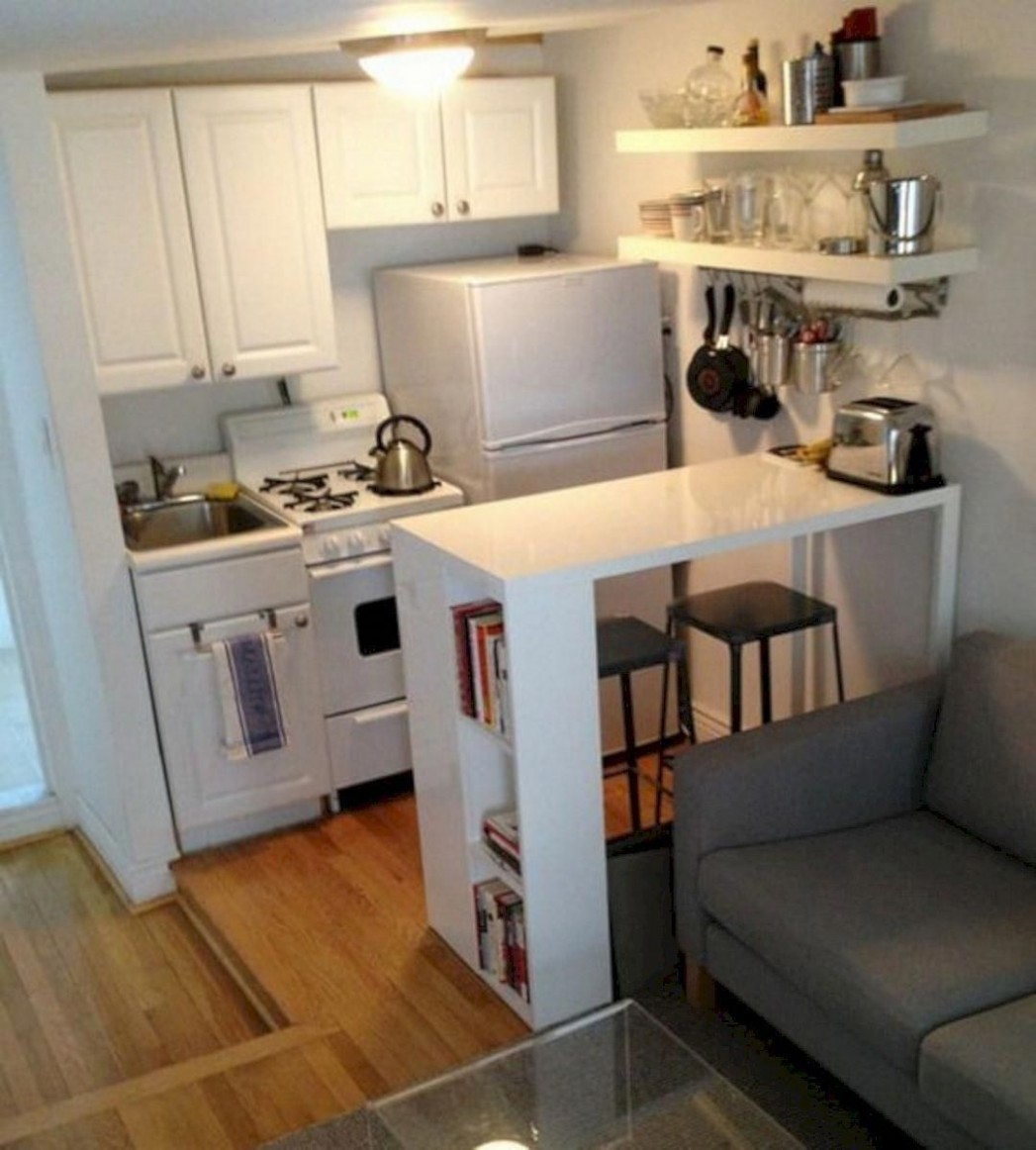 Amazing Small Kitchen Ideas For Small Space 11 #smallkitchen  - Kitchen Ideas For Apartments