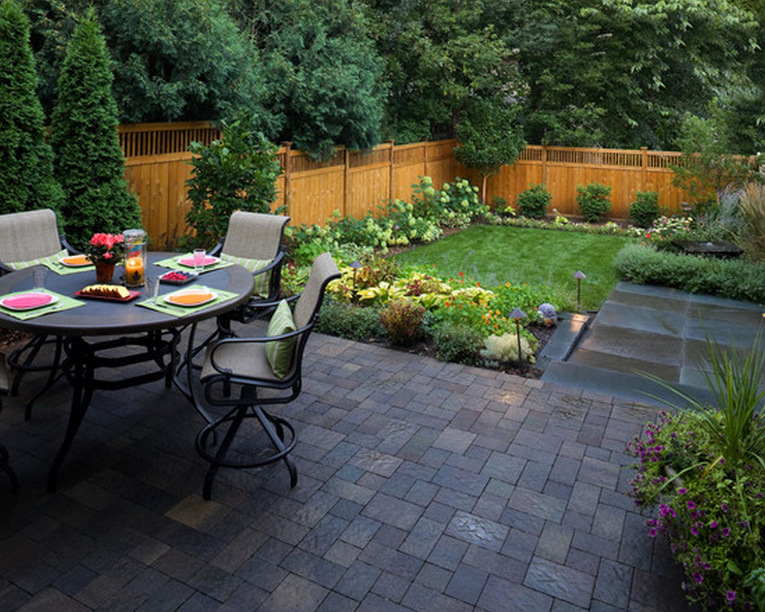 Apartment Back Patio Ideas In Yard Design Landscaping Small  - Apartment Yard Design
