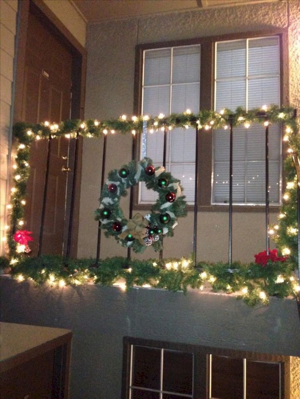 Apartment Balcony Christmas Light Decorating Idea11  Christmas  - Apartment Balcony Decorating Ideas Christmas