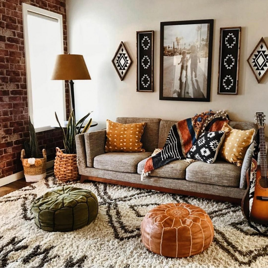 Apartment Decorating Ideas: No matter what kind of flooring you  - Small Apartment Decorating Ideas Boho