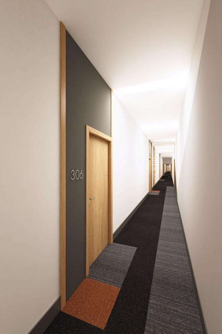 Apartment Hallway Design in 10  Corridor design, Hotel corridor  - Apartment Hallway Design