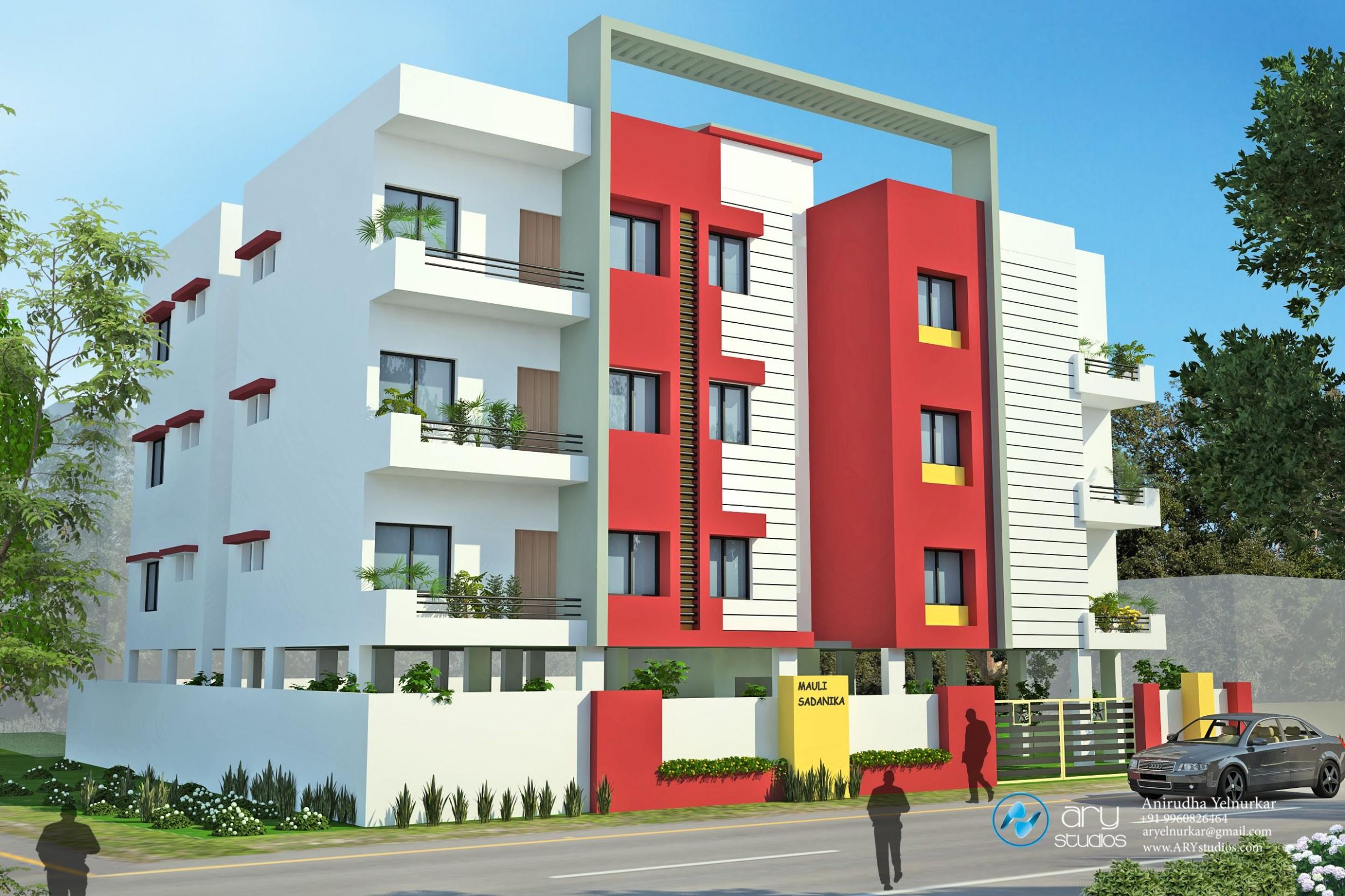 Apartment modern exterior elevation  Modern exterior, House  - Apartment Design Outside