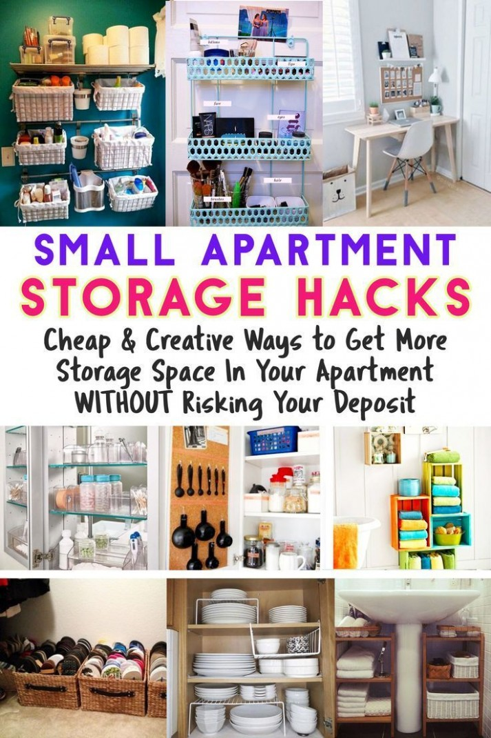Apartment Organization Hacks - Clever Storage Ideas for Small  - Apartment Design Hacks