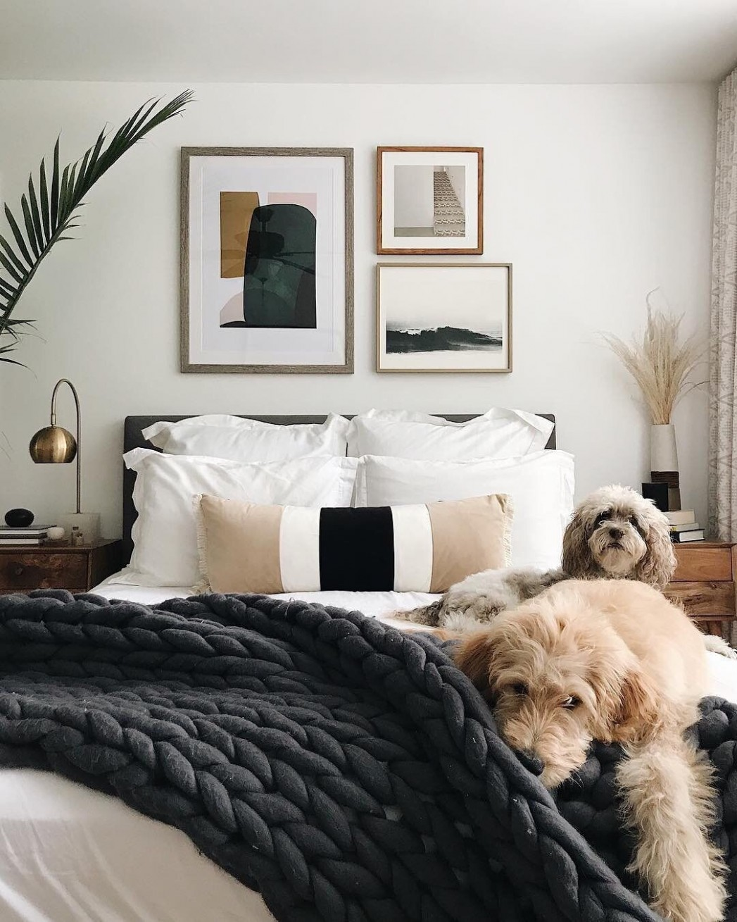 """Apartment Therapy on Instagram: """"The fluffiness! The coziness  - Bedroom Ideas Apartment Therapy"""