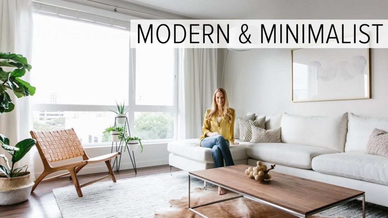 APARTMENT TOUR  my modern & minimalist living room tour - Minimalist Apartment Decor Ideas