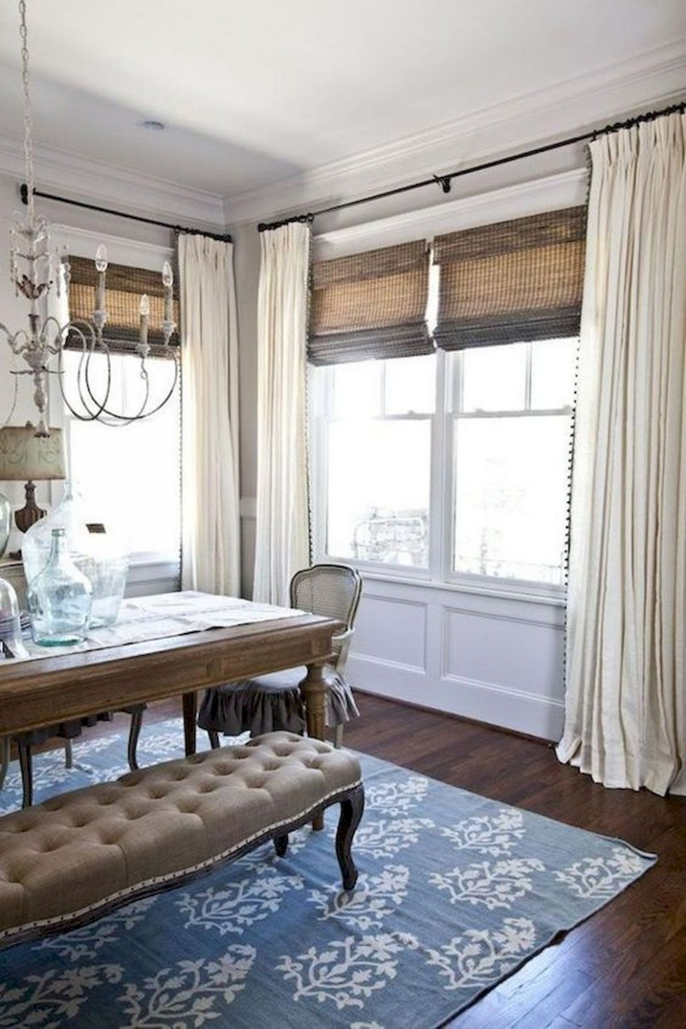 Awesome 11 Best Modern Farmhouse Living Room Curtains Decor Ideas  - Dining Room Drapes Ideas
