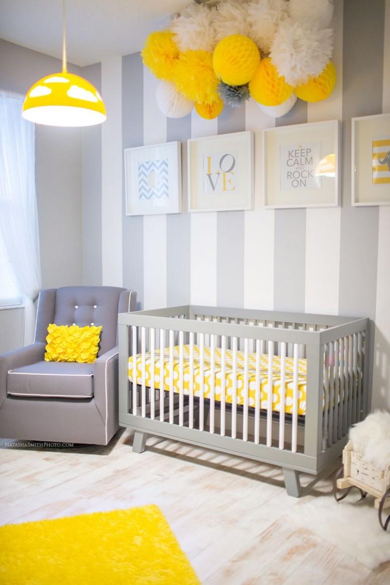 Awesome Yellow Baby Nurseries - Design Dazzle  Baby nursery  - Baby Room Yellow