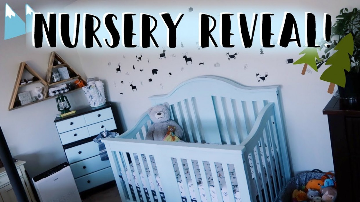 Baby Boy Nursery Tour 11  DIY Baby Room On a Budget! (Woodland Theme  Nursery Decor & Furniture) - Baby Room Youtube