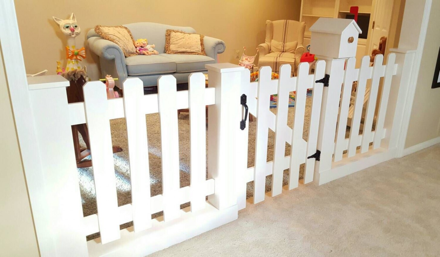 Baby Gate Playroom Picket Fence Room Divider by  - Baby Room Divider
