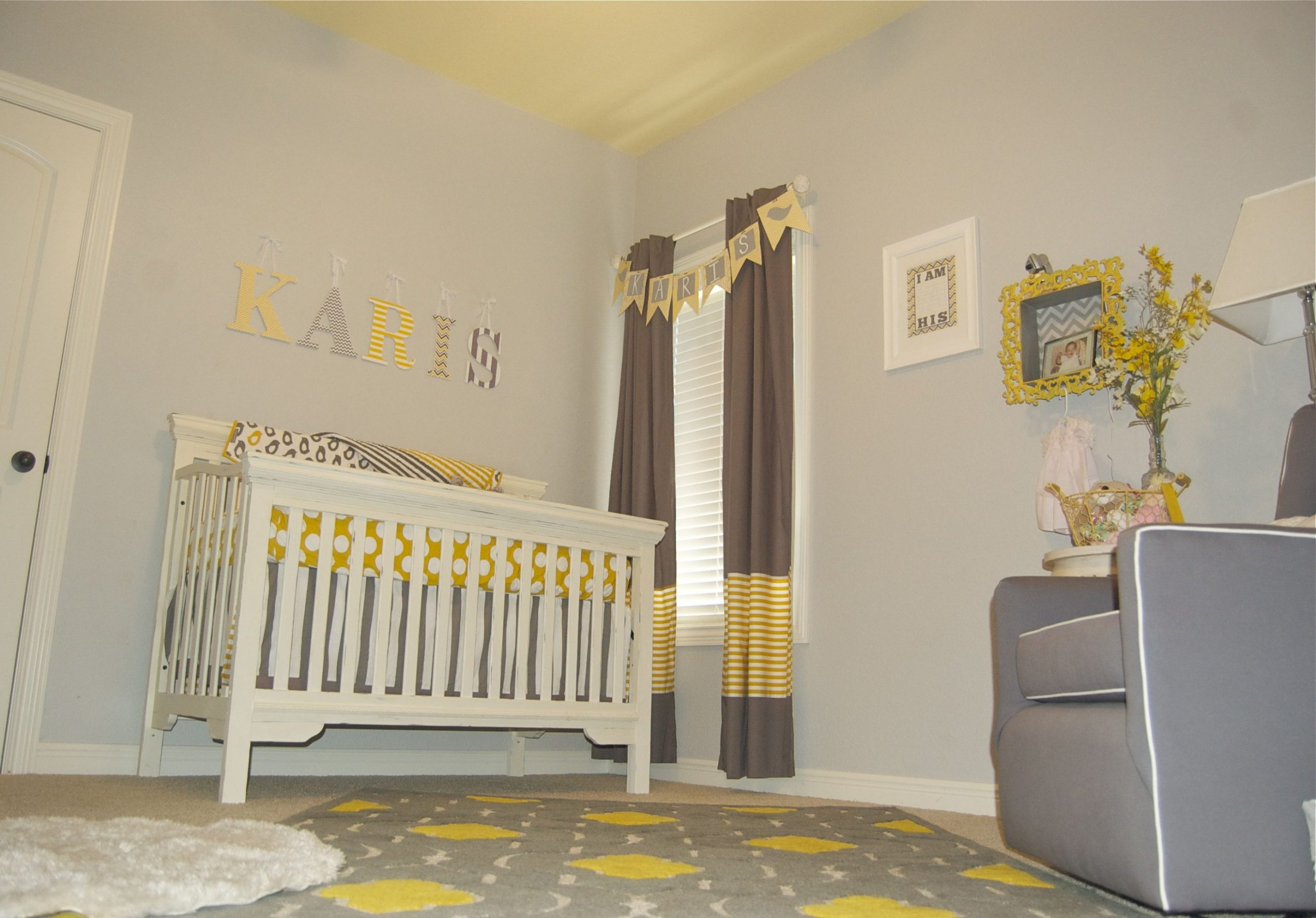 Baby Girl Gray and Yellow Nursery - Project Nursery  Baby room  - Baby Room Yellow