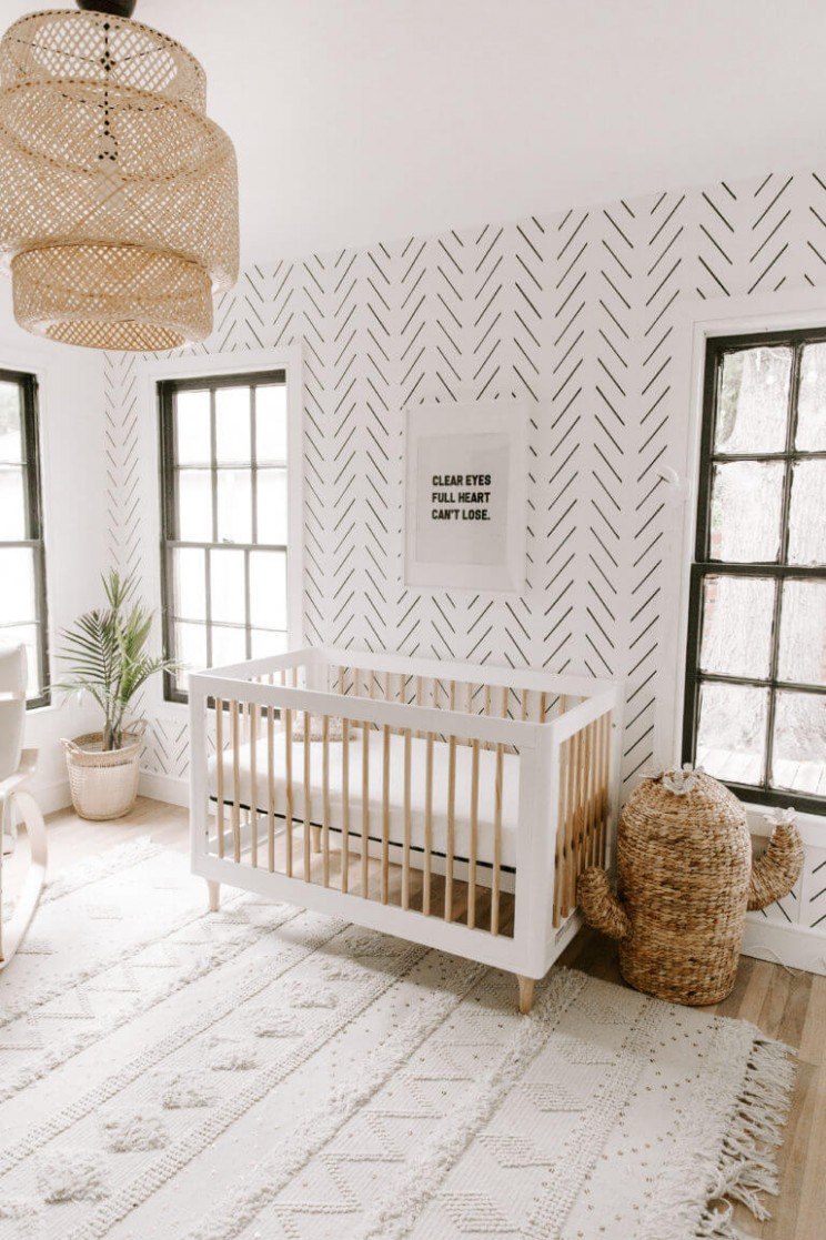 Baby Girl Nursery Ideas  Accent Walls, Animal Themes, & Beautiful  - Baby Room Accent Wall