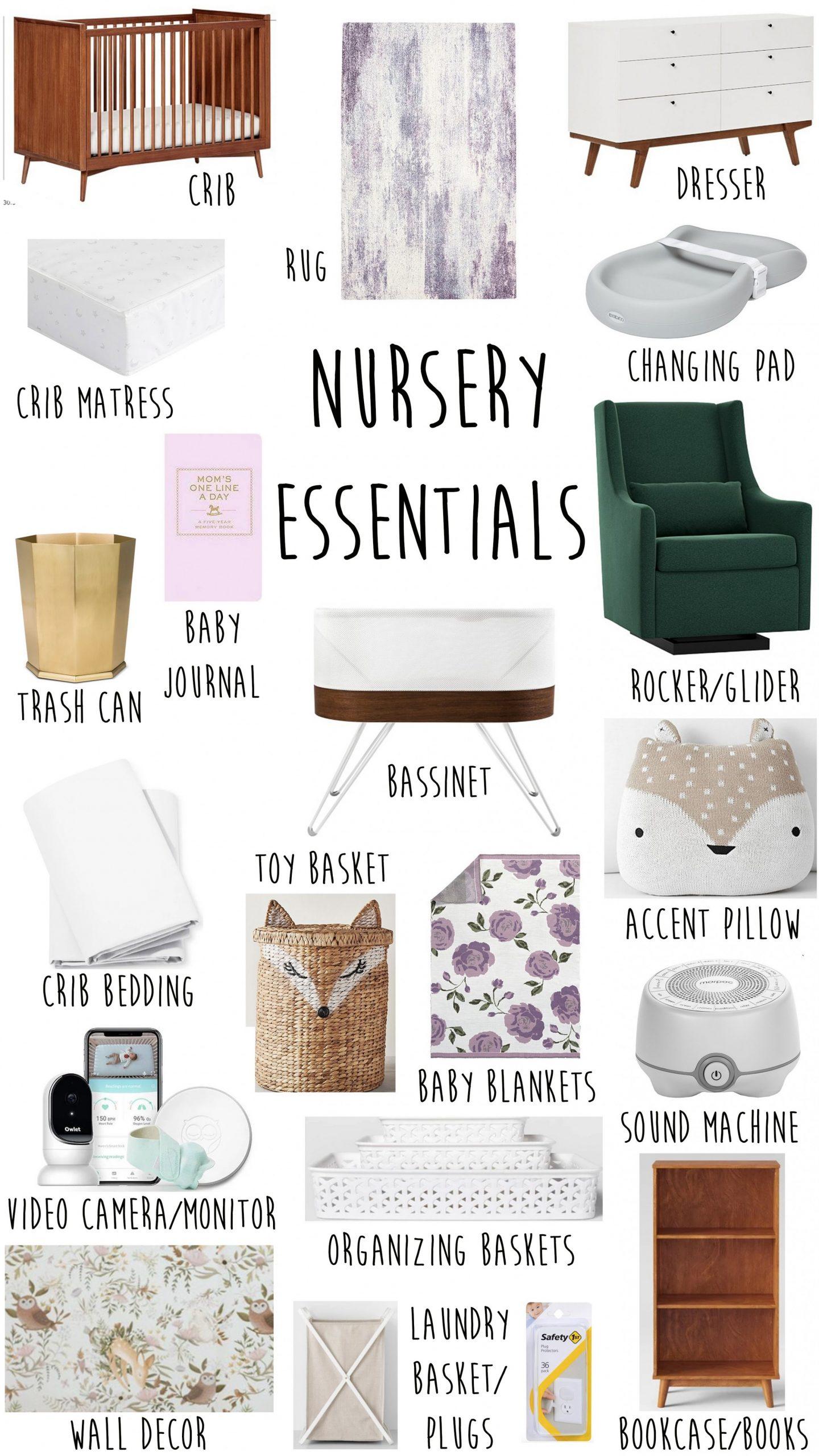 Baby Nursery Essentials + Checklist  Kelsey Bang - Baby Room Checklist