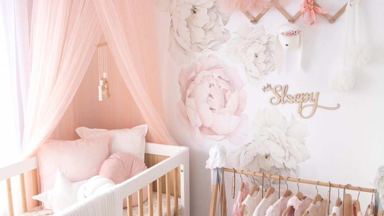 BABY NURSERY REVEAL! ~ [ Baby Girls Room Tour ] ~ Nursery Inspiration - Baby Room Youtube