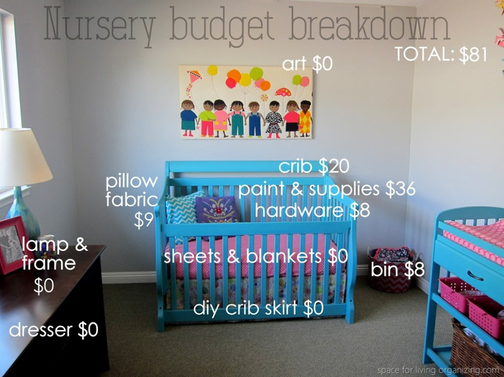 Baby on a Budget: Budget Breakdown - Space for Living Organizing  - Baby Room On A Budget
