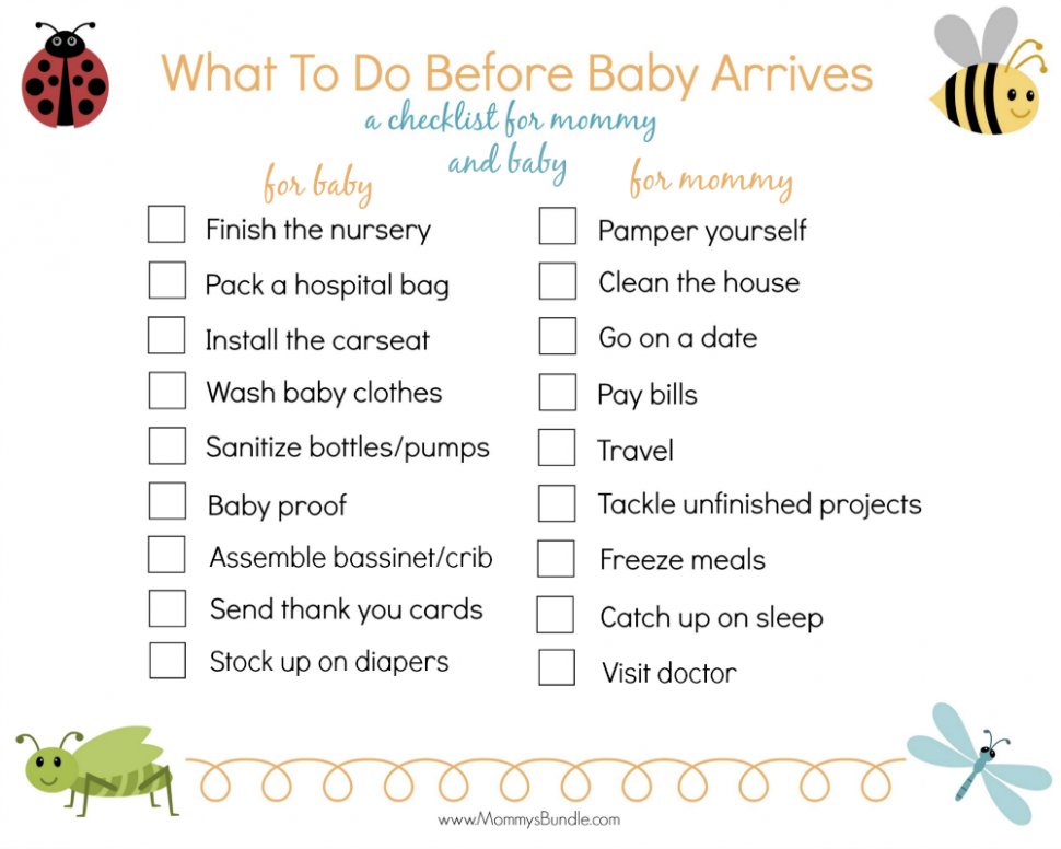 Baby Prep Checklist:11 Things To Do Before Baby Arrives - Baby Room Checklist