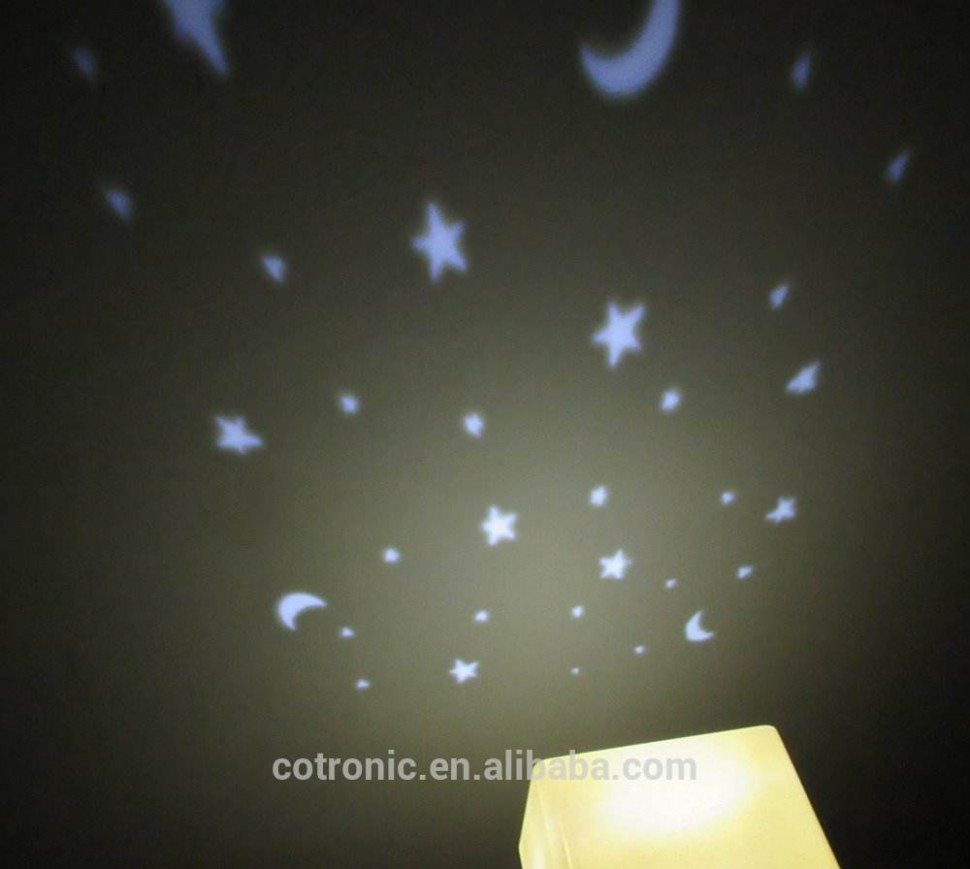 Baby Room Star Moon Projector Night Light Lamp,Kids Projector  - Baby Room Projector