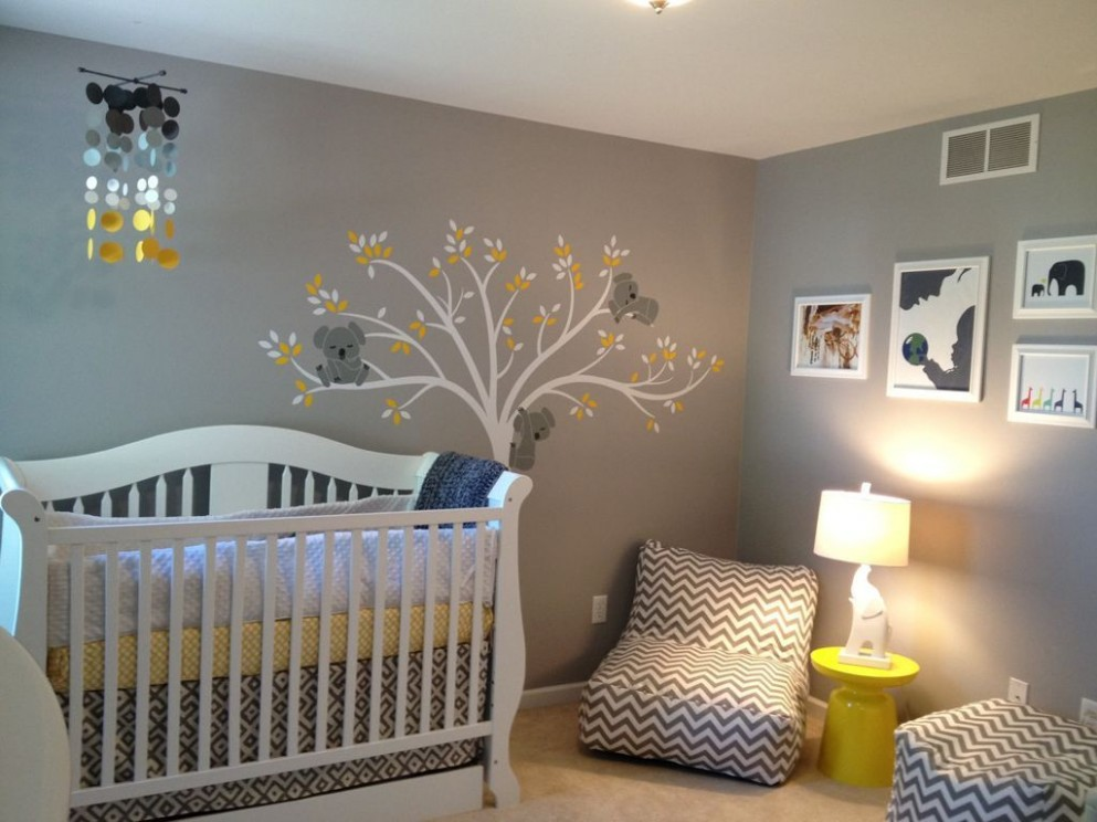 Baby Room : Striking Baby Room Decor With Grey Yellow Area Rug  - Wall Decor Ideas Baby Room