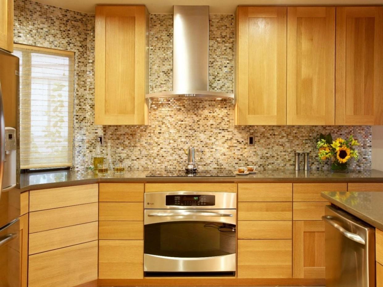 Backsplash Ideas for Wood Countertops — Modern Design - Kitchen Backsplash With Light Wood Cabinets