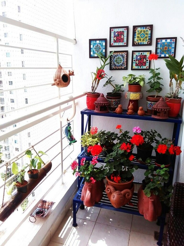 Balcony Garden - My Bloomingdale  Small balcony garden, Small  - Balcony Ideas For Apartments India