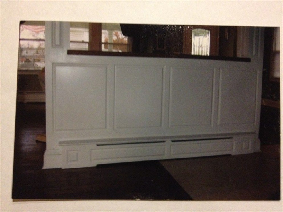 baseboard heat molding perfect for my island in kitchen  - Kitchen Cabinet Baseboard Heater