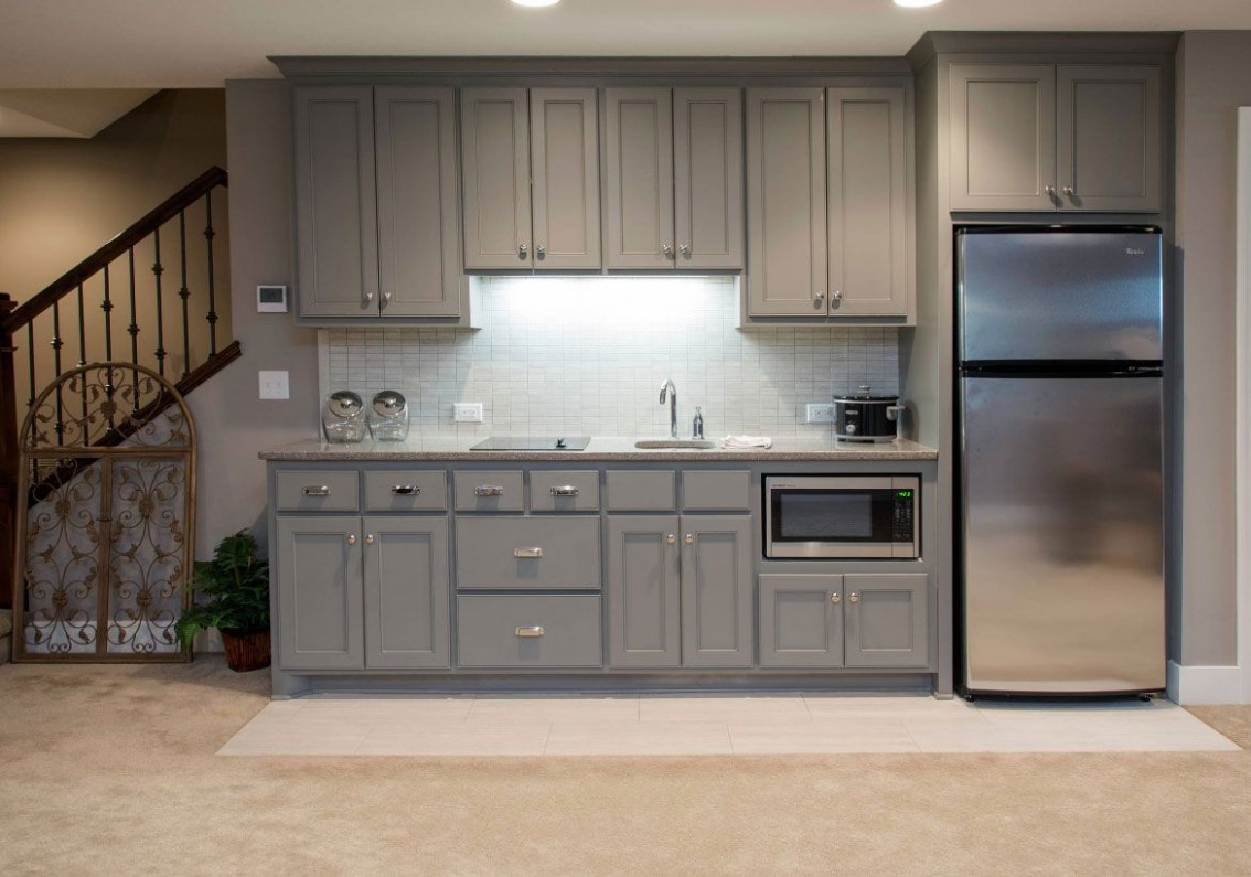 Basement kitchenettes are starting to gain popularity as more and  - Bedroom Kitchenette Ideas