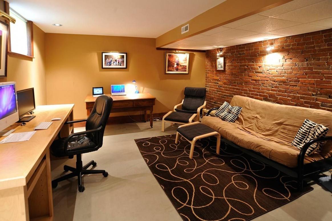 Basement office 11  Basement office, House inside, Home - Home Office Ideas Basement