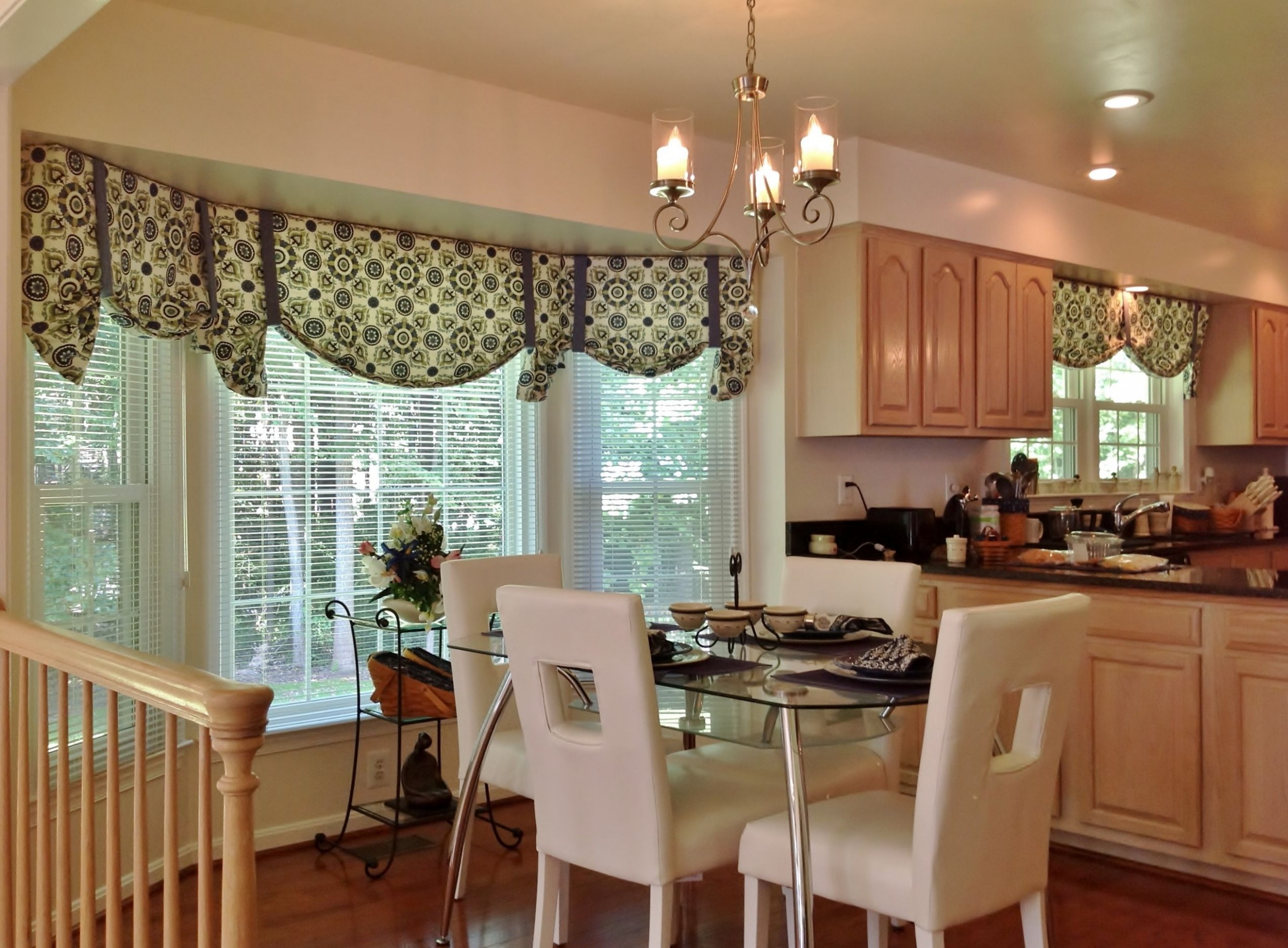 Bay Window Kitchen Curtains And Window Treatment Valance Ideas  - Dining Room Valance Ideas