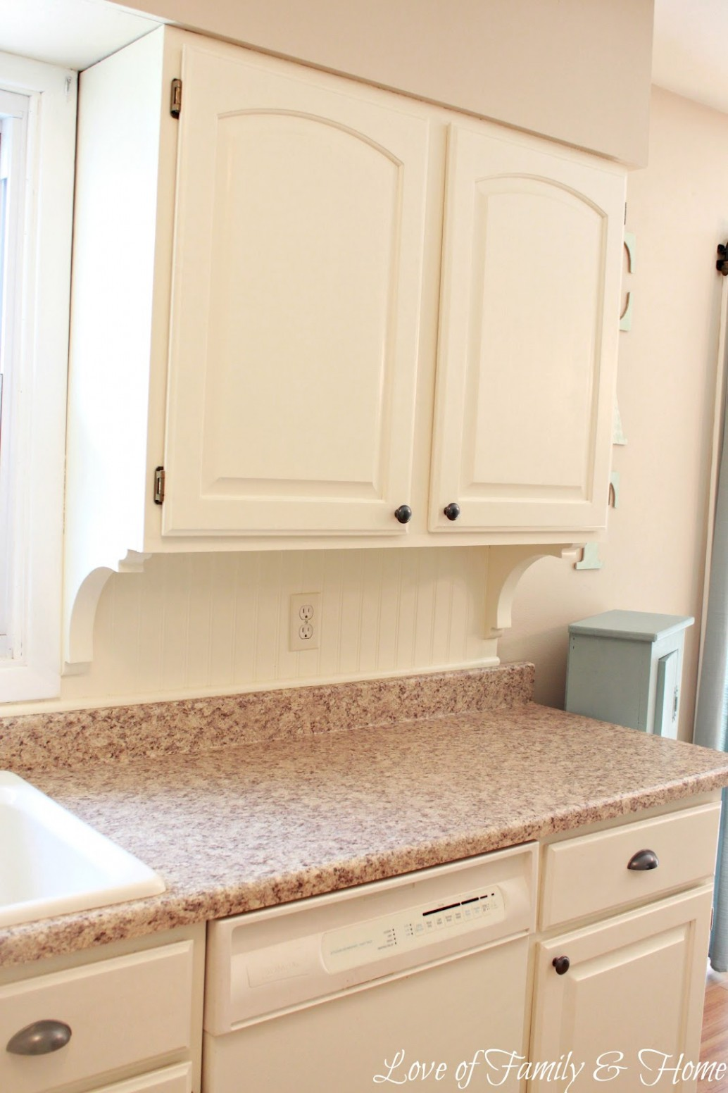 Beadboard Backsplash, Corbel Love, & A Few Other Kitchen Updates  - 1950S Kitchen Cabinets Corbel