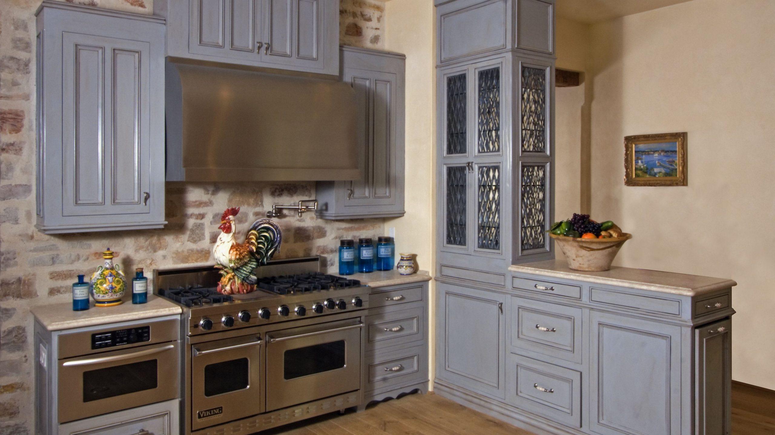 Beautiful Blue Kitchen Design Ideas - Gray Kitchen Cabinets With Blue Backsplash