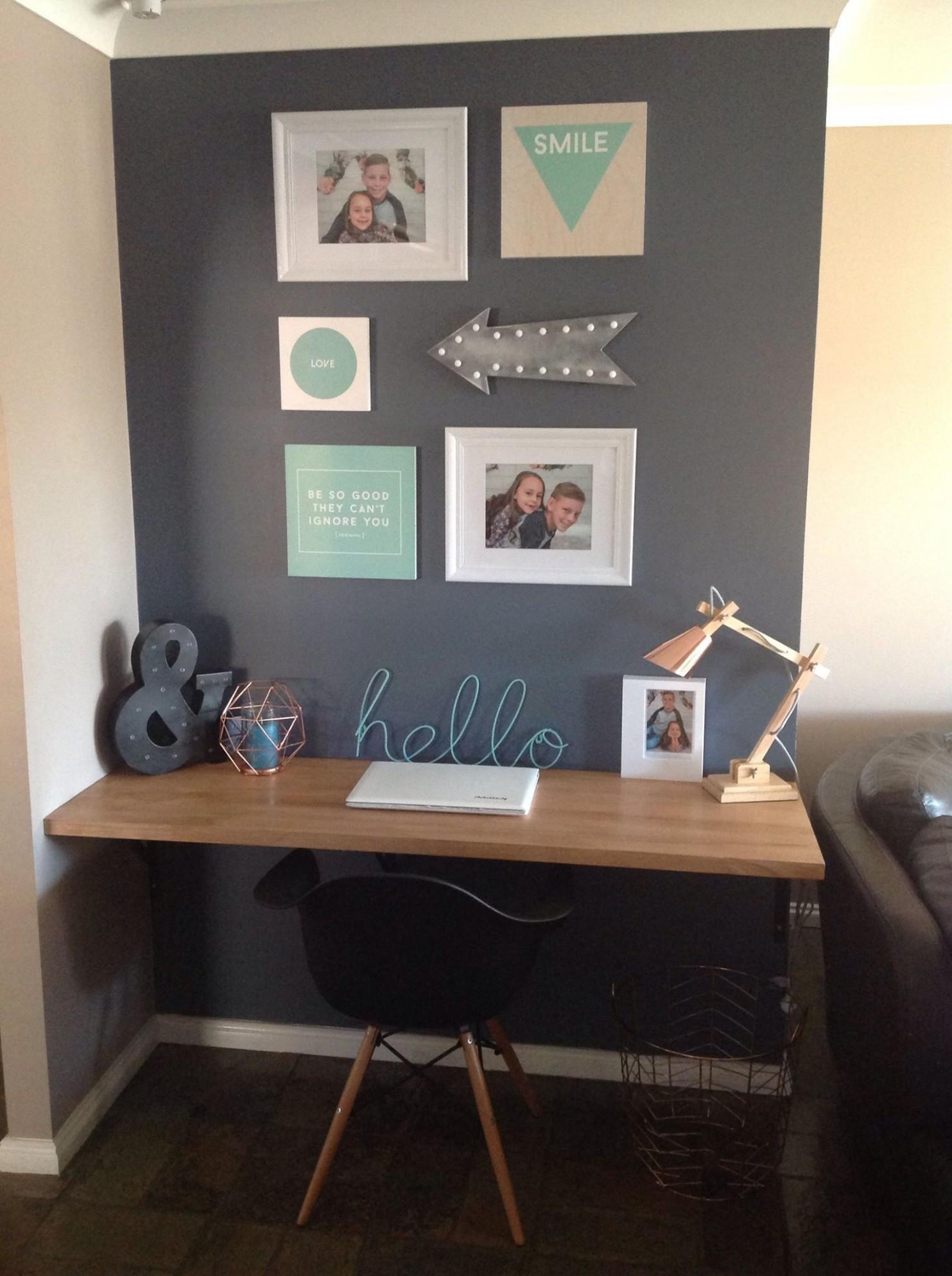 Beautiful desk set up. Kmart Australia style