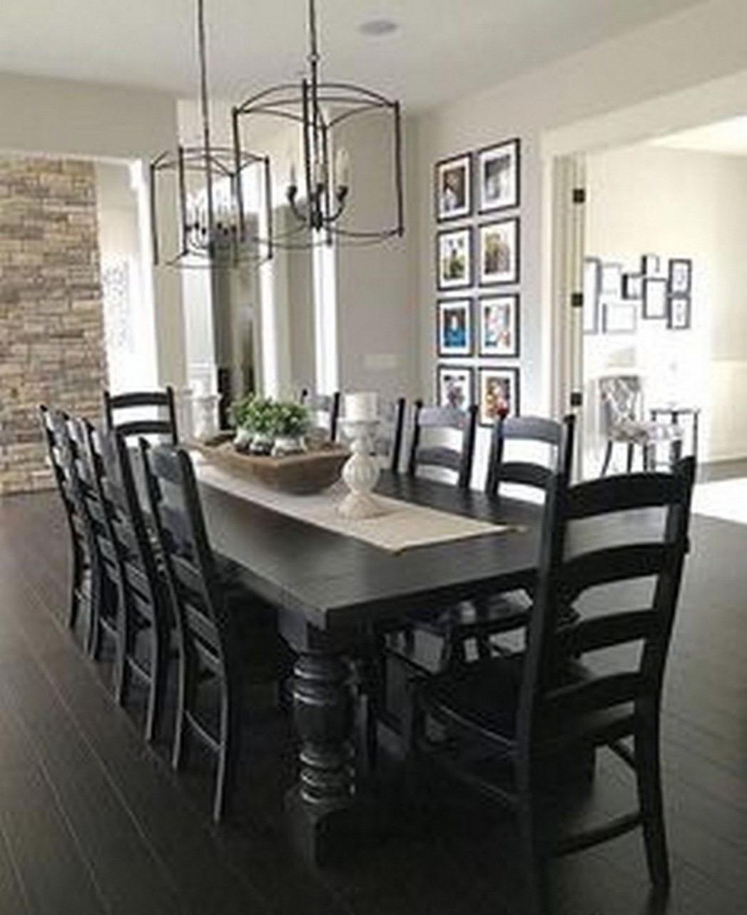 Beautiful Farmhouse Black Table Designs to Manage in Dining Room  - Dining Room Ideas With Black Table