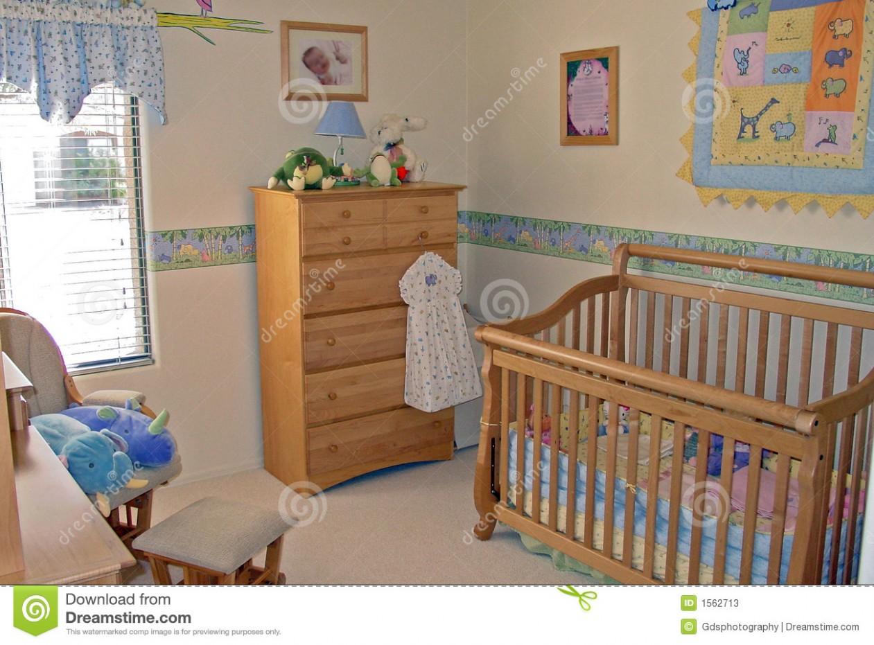 Bedroom baby s room stock image