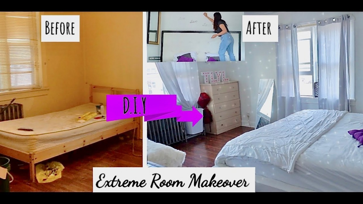 Bedroom Makeover Before and After - DIY Ideas  Canada  ThatLookYouLove - Bedroom Ideas Videos