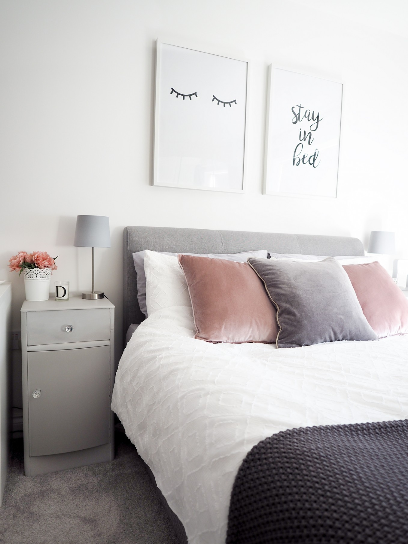 Bedroom Tour  Pink and Grey Bedroom Decor - Bang on Style - Bedroom Ideas Grey And Pink