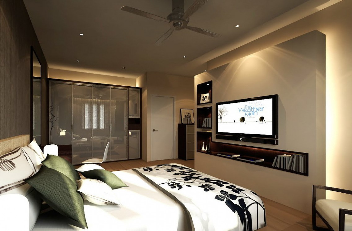 Bedroom Tv Ideas Praveenarme Stand Solutions Wall Mounted In  - Bedroom Ideas With Tv