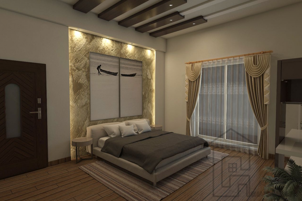 Bedroom with its complete furniture in Pakistan