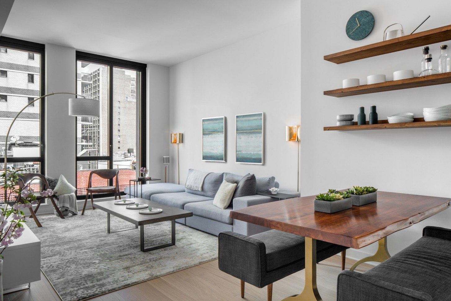 Before & After: A Well-Manicured Minimalist Apartment  Décor Aid - Minimalist Apartment Decor Ideas