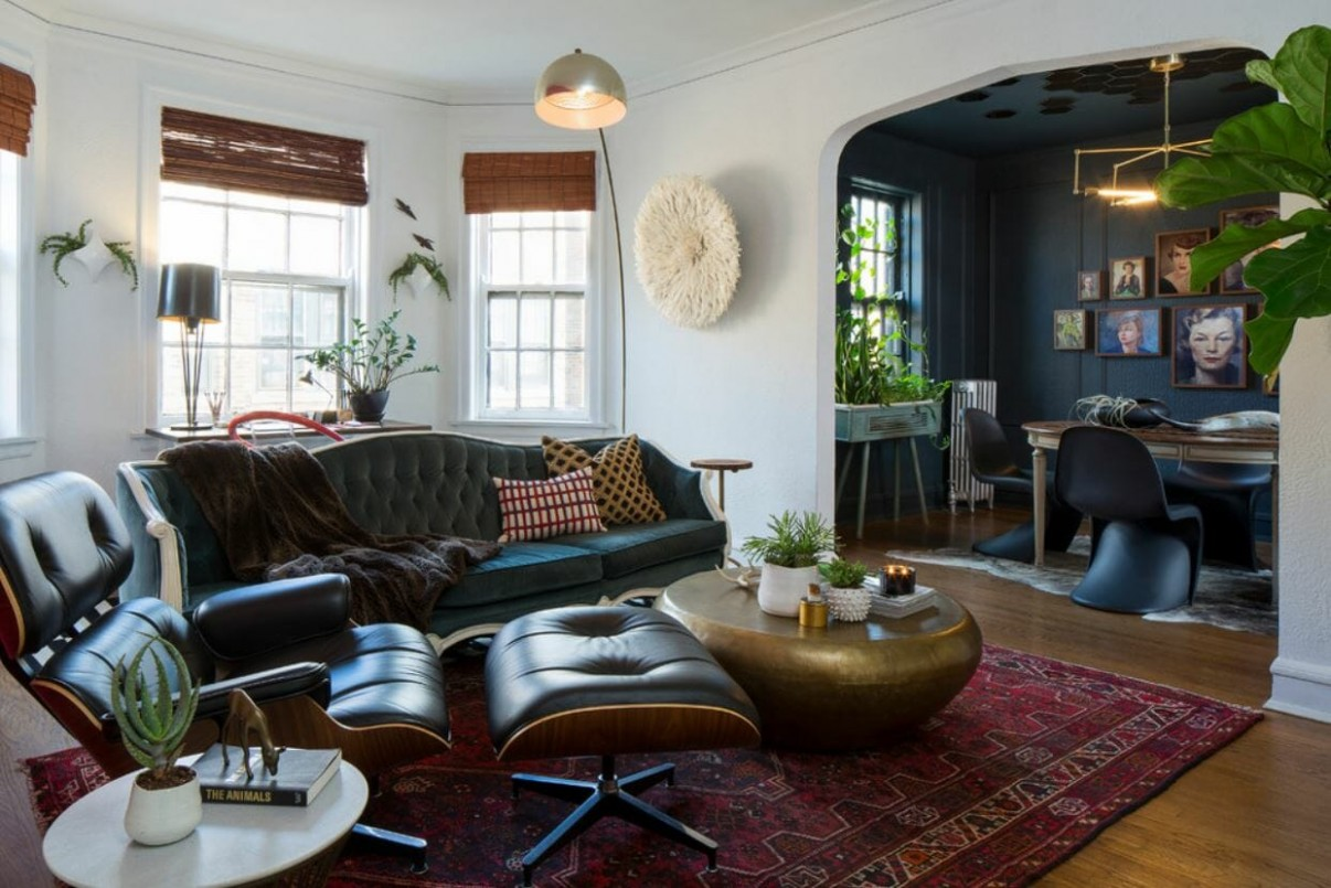 Before & After: Eclectic Studio Apartment Design Online  Decorilla - Apartment Design Online