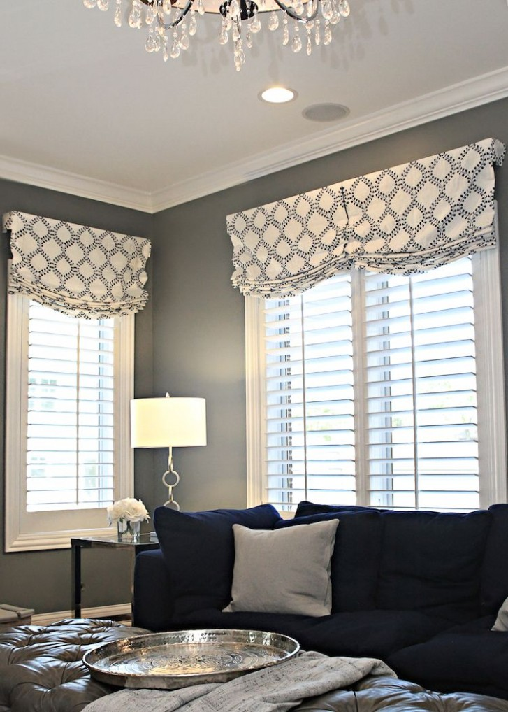 Before & After: Family Room for 11  Window treatments living room  - Dining Room Window Valance Ideas