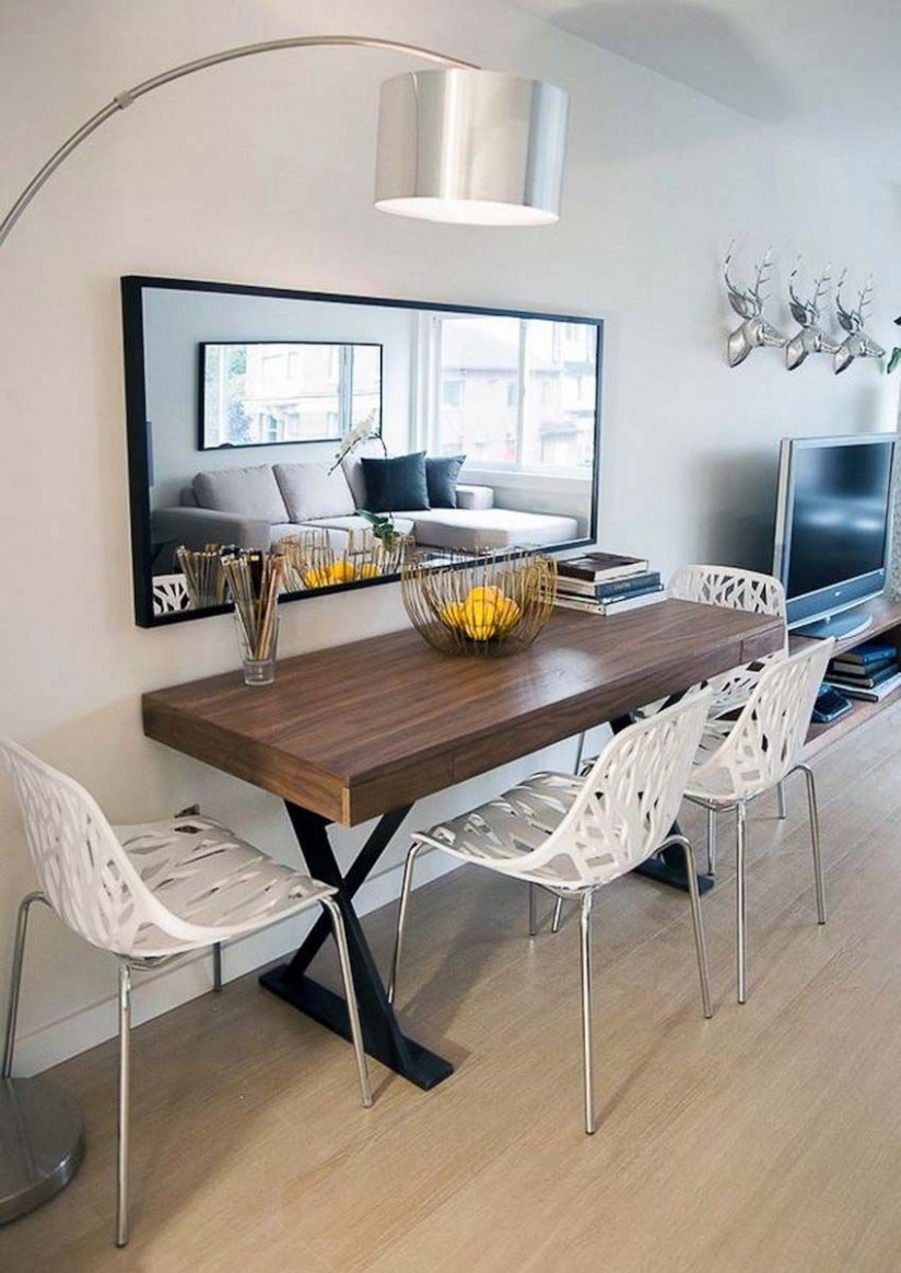 Best 11 Narrow Dining Tables for Small Spaces (Gallery Ideas  - Dining Room Ideas For Small Apartments